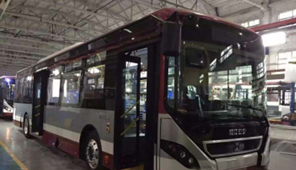 Shanghai Songjiang Bus Group uses all-aluminum new-energy city bus to replace common steel bus